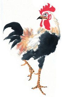 艺术 中国 公鸡/中国艺术国画 公鸡