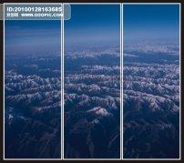 南极洲/雪山山脉移门